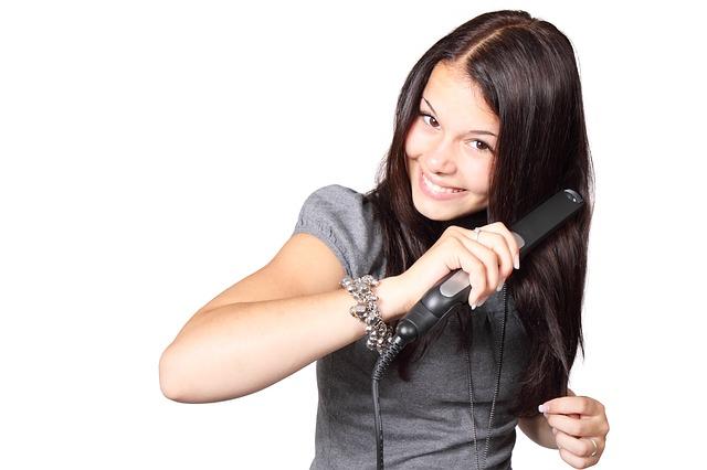 Plattång till håret